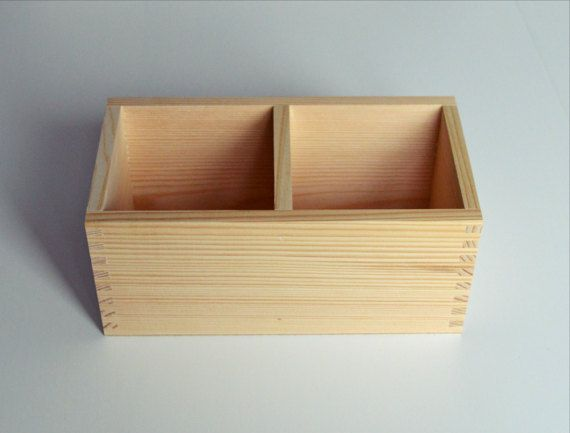 Untreated Wood Box Office Organization Rustic Wooden Planter