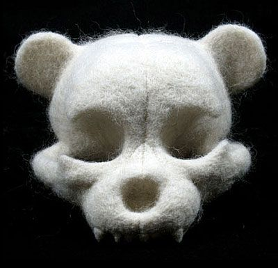 Teddy Skull I LOVE this... Is it needle felted? I'd love to try this..being a teddy collector myself... :)