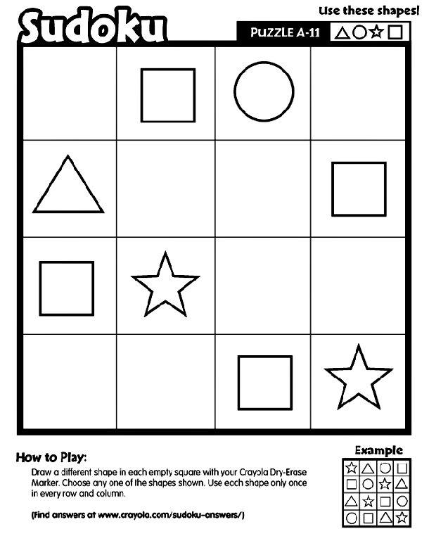 Sudoku A-11 printable Logic and Reasoning skills