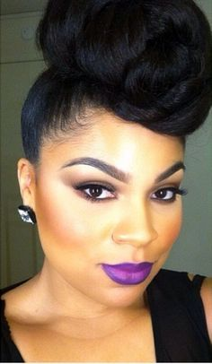 2015 Natural Hairstyles For African American Women - The Style ... cute black hair styles http://www.shorthaircutsforblackwomen.com/how-to-make-your-hair-grow-faster-longer/