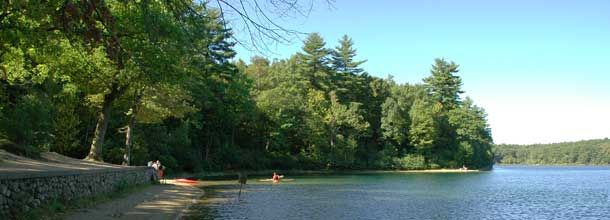 Walden Pond: Home to Henry David Thoreau in mid-1800's, Concord, MA