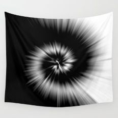 TIE DYE #1 (Black & Whit… Wall Tapestry
