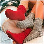 A simple knitted sock pattern for beginners (its free)