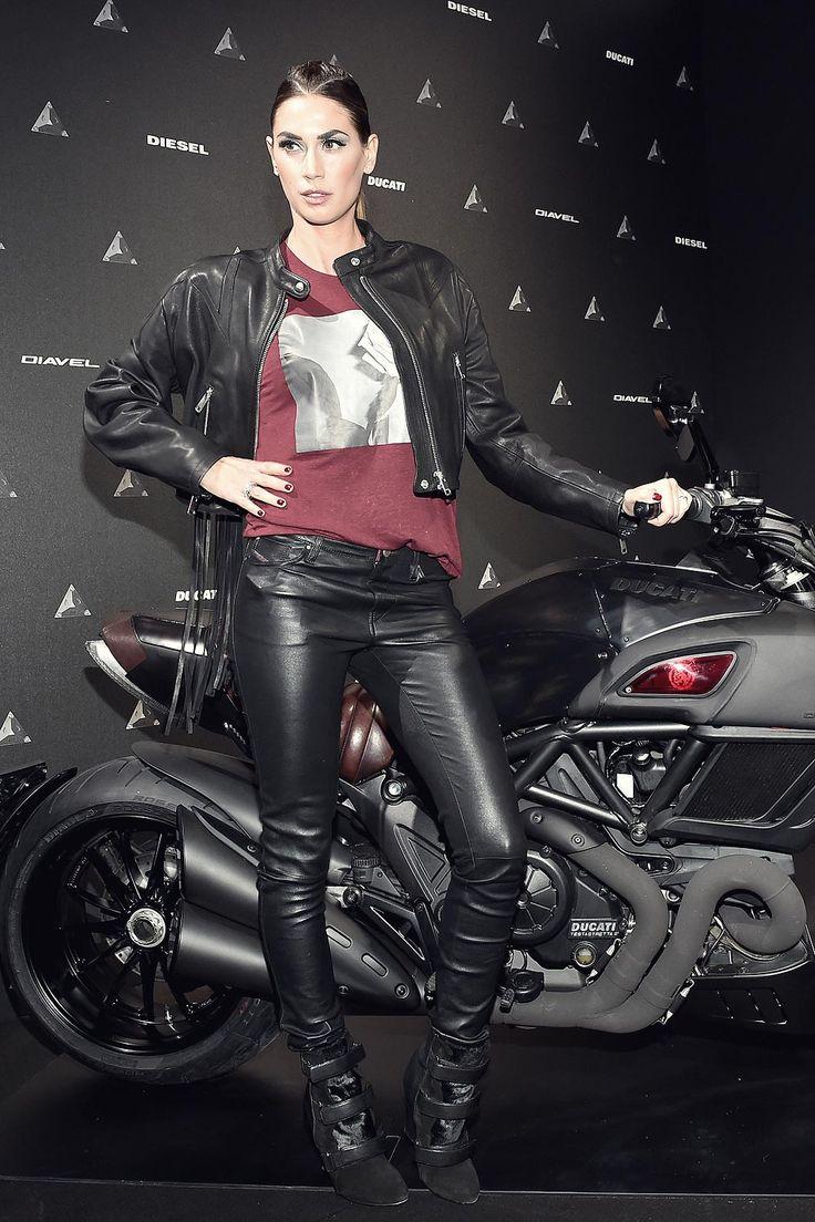 Melissa Satta attends DDD Ducati Diavel Diesel presentation