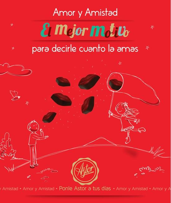 """Amor y Amistad el mejor motivo para decirle cuanto la amas con """"CHOCOLATES"""" de la @reposteriaastor"""
