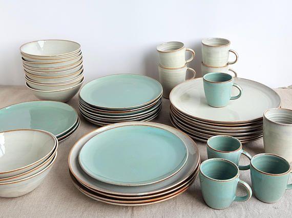 Stoneware Dinnerware Set Mix And Match Dinnerware Set Etsy Handmade Dinnerware Stoneware Dinnerware Sets Ceramic Dinnerware Set Mix and match dinnerware sets