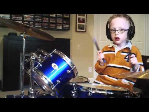 Coolest 6 year old kid EVER....  JAXON SMITH FOO FIGHTERS Pretender 6 yr old self taught drummer