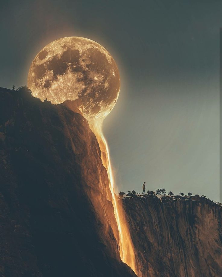 Melting Moon : interestingasfuck
