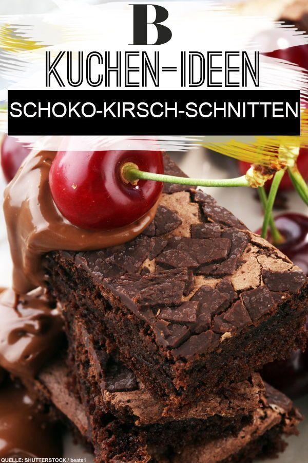 Schoko Kirsch Schnitten Rezept Kuchen Kirschen Und Schoko