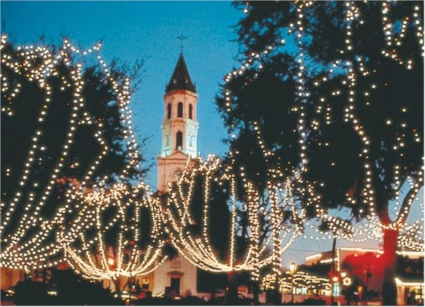 Florida in December: The Weather, Festivals, and Events: More than two million tiny white lights illuminate the downtown St. Augustine area during Nights of Lights.