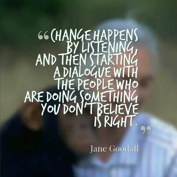Jane Goodall Quotes: 72 Best Images About : : Change Process : : On Pinterest
