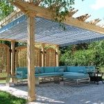 covered pergola Patio Traditional with canopy backyard