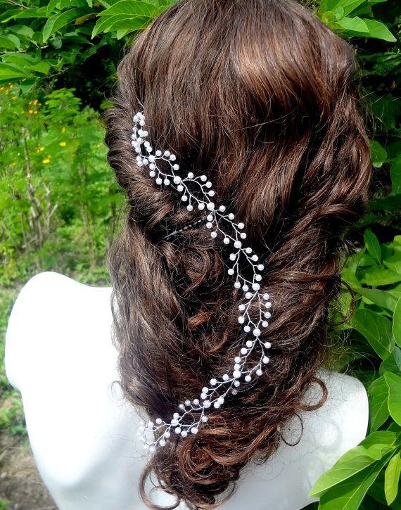 Extra larga de la boda cabello vine vine de boda por Thanunnuda