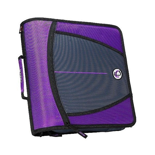 """Case•it  Zipper Binder with Internal Pockets, .\""""  \"""" ($22) ❤ liked on Polyvore featuring home, home decor, office accessories, purple, case it binders, purple binder, zippered ring binder, pocket file folders and file binder"""