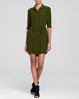Silk Shirt Dress - Comfy look for a night out. / #100PercentBloomies