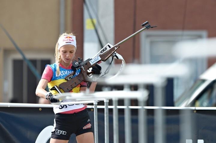 Miriam Goessner (GER) in the ODLO City Biathlon, Puettlingen, Germany