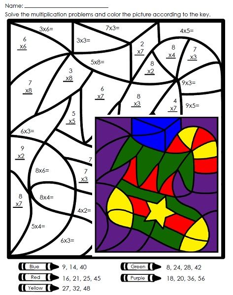 Practice basic multiplication facts with this Christmas mystery picture!