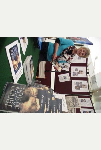Pamela Vass was at the North Devon Show with her latest work, Shadow Child.