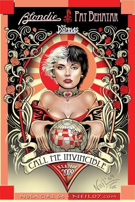 Concert poster art for Blondie/Pat Benatar |