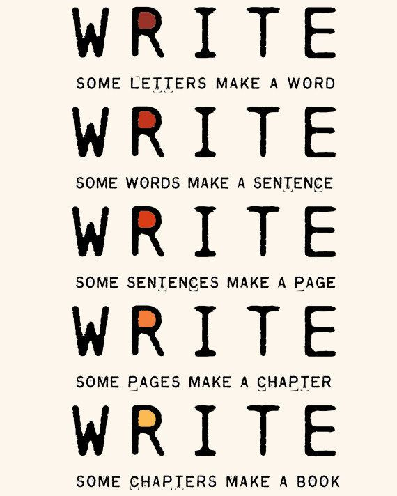 Encouraging print for writers. $18 from Etsy.
