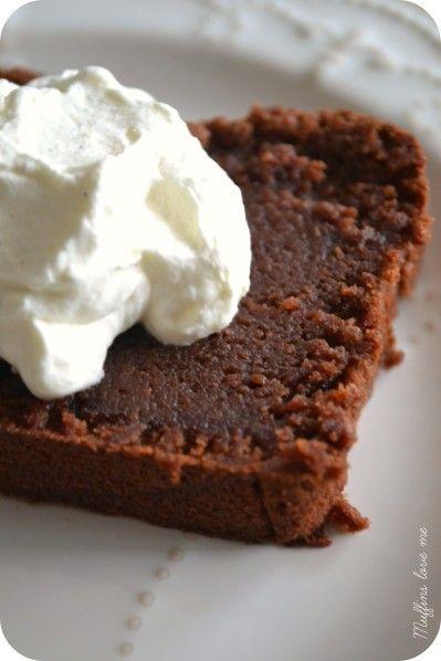 Gateau chocolat et de crème de marron avec un nuage de chantilly aux graines...