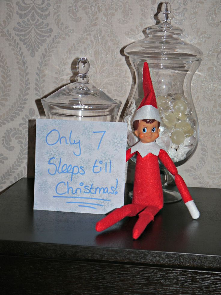 Elf On The Shelf // Day 17 I can't believe it's only 7 sleeps till Christmas! Buddy seems very excited! #Blogger #BBlogger #Christmas #ElfOnTheShelf #Buddy x