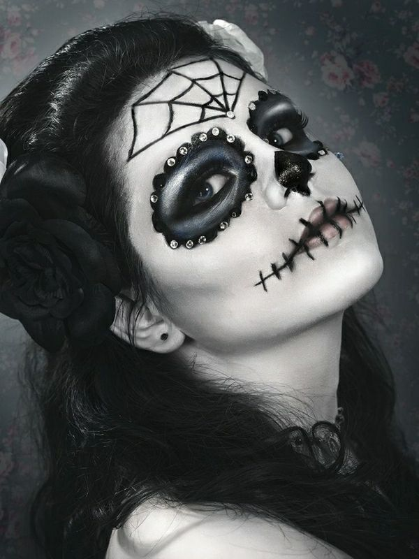 jolie maquillage de Halloween