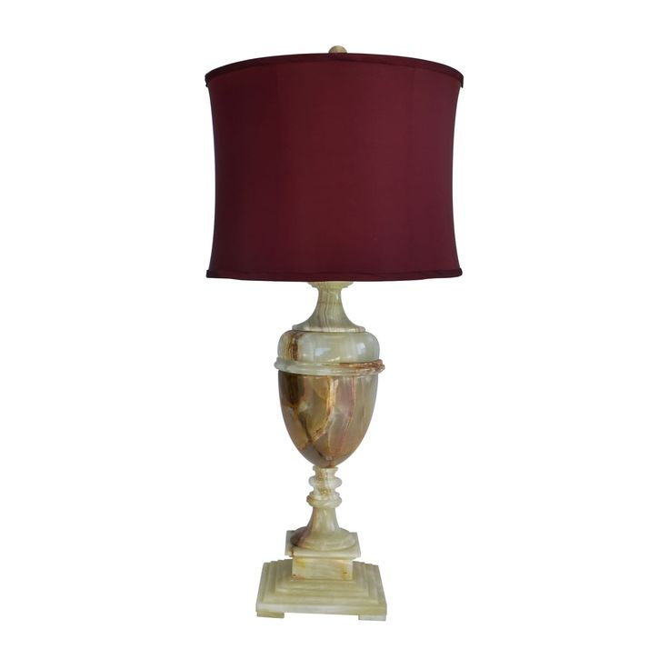 """Rembrandt Home 32"""" Tall Table Lamp """"Sabrina"""" with Chartreuse finish, Cherry Linen Shade"""