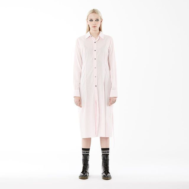 new arrivals: nom*d 'shirt dress' in 'pink' available in zambesi stores now! #nomd #rem #zambesistore