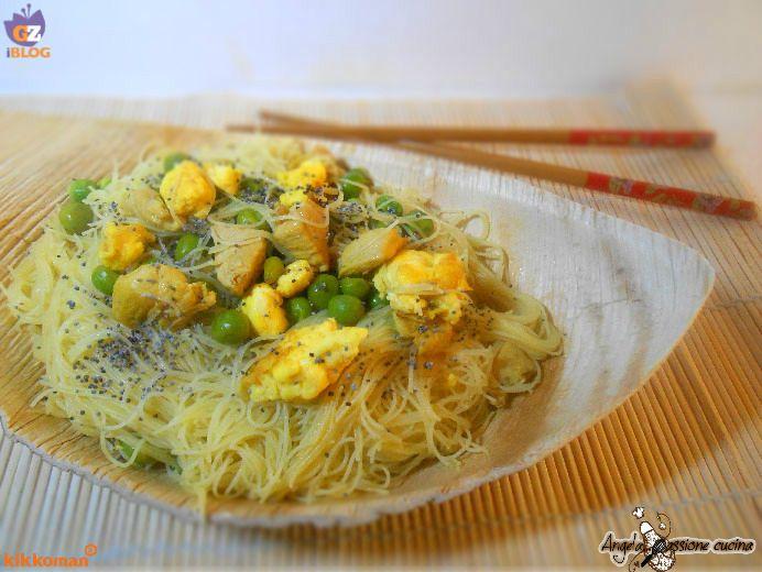 Noodles+di+riso+all'orientale
