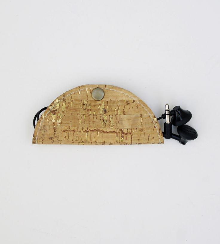 Cork & Leather Cord Organizer | Keep your cords neat and orderly with the help of this cord or... | Headphone Accessories