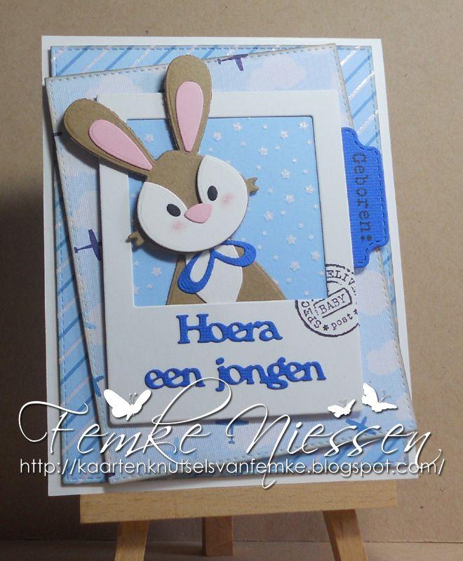 kaartenknutsels van femke: 3 adorable bunnies