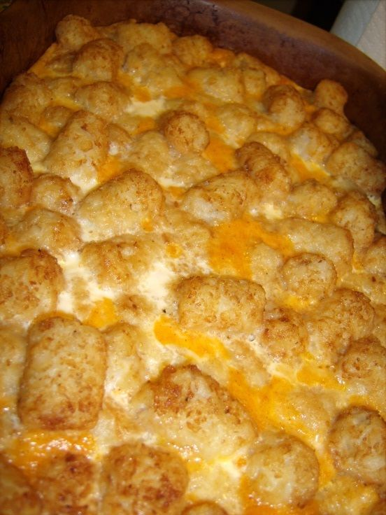 holy delicious looking Tater-tot Breakfast Casserole