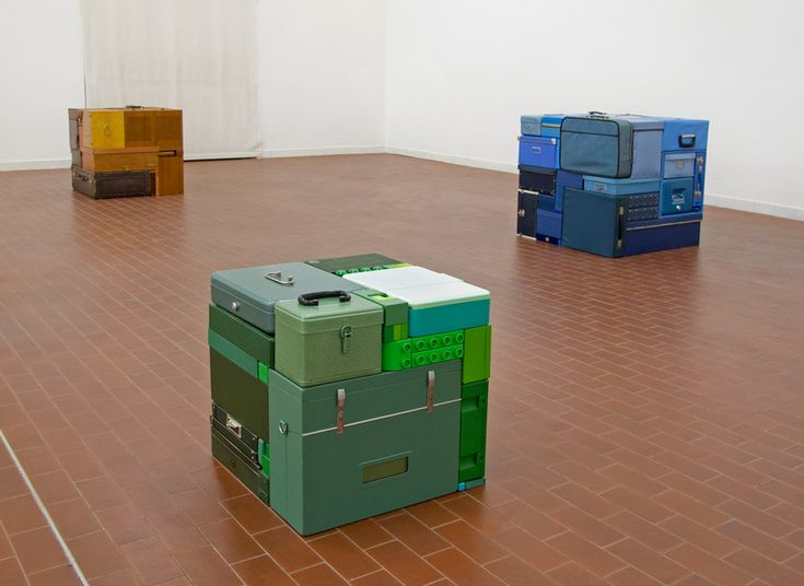 Michael Johansson Sculptures neatly pack found objects...kinda like real life tetris!