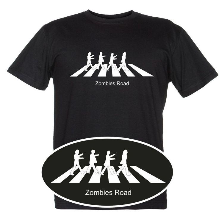 """Maglietta divertente personalizzata """"Zombies Road"""""""