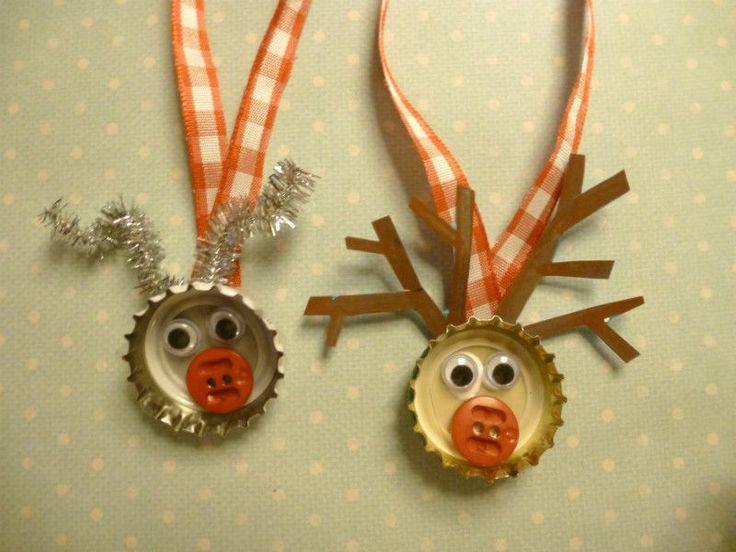 Bottle top reindeer image