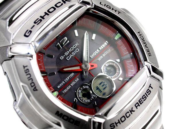 G-SUPPLY   Rakuten Global Market: Casio G-Shock foreign countries monopoly model solar watch black X red silver stainless steel belt GW-1400DA-4AV