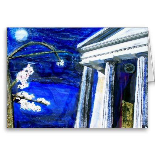 blank card featuring original artwork