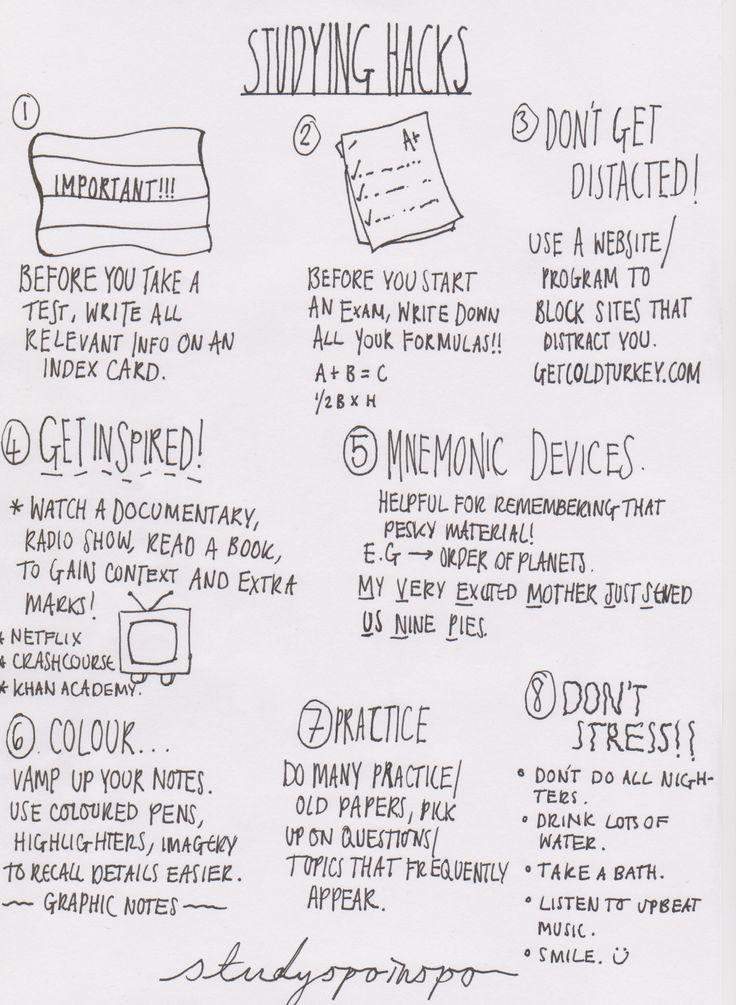 studyspoinspo:another note - studying hacks.