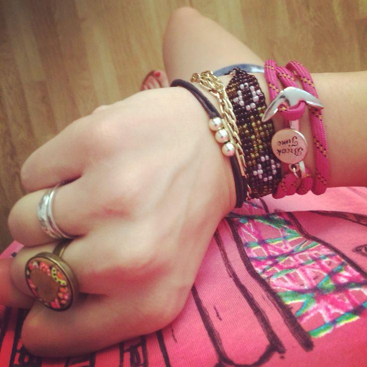 Breaktime nautical bracelet pink.