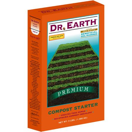 Dr. Earth Compost Starter is a premium blend of organic materials that actually inoculates the compost pile with necessary microorganisms needed to digest the raw organic material.