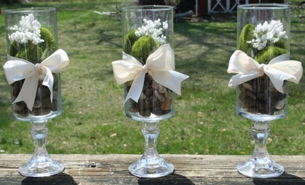 Dollar Store Decor - for the mantel