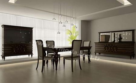 -Arman yemek odası içerisinde gümüşlük, konsol, masa ve 6 sandalye vardır. -Takım kanserojen madde içermeyen boyama ile bir araya getirilmiştir.