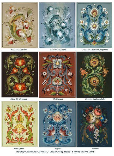 Jansen Art Store - Heritage Education Module 3 Rosemaling Styles, $380.00 (http://www.jansenartstore.com/heritage-education-module-3-rosemaling-styles/)