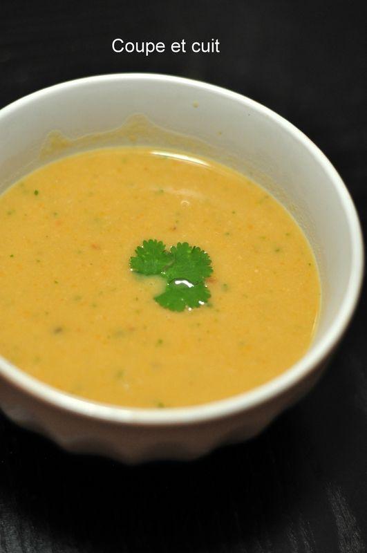 Soupe pois chiches carottes coriandre et raz helnut