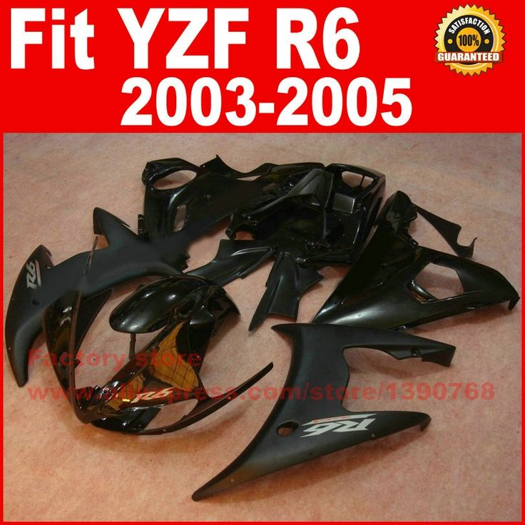 304.00$  Buy now - http://ali7k7.worldwells.pw/go.php?t=32291894406 - High quality Motorcycle body fairings kit for YAMAHA R6 2003 2004 2005 YZF R6 03 04 05 all black fairing