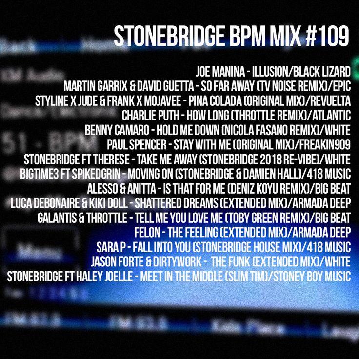 StoneBridge BPM Mix #109 is up https://www.mixcloud.com/stonebridge/109-stonebridge-bpm-mix - Check it out! #stonebridge #stonebridgeshow #bpmmix #house
