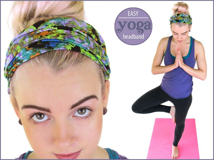 Stretchy Yoga Headbands: Pleated & Turban Styles - These are so fast and easy to make, you can make several in one setting from just a small amount of fabric | Sew4Home