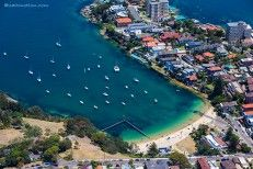 Aerial Photography of Little Manly Beach taken by Joel Coleman. For enquiries to purchase prints, contact Saltmotion Gallery www.saltmotion.com