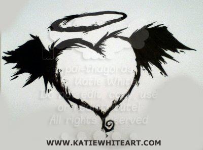INKY HEART - www.katiewhiteart.com